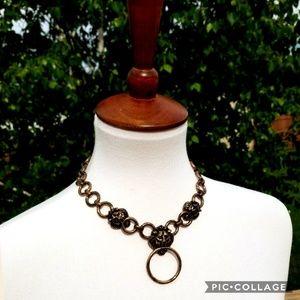 +new+ boutique bronze lion chain necklace